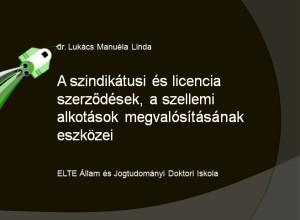 A szindikátusi és licencia szerződések.ppt